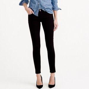 J. Crew Black Sateen Toothpick Skinny Pants